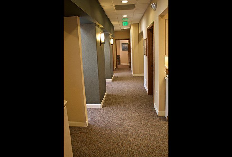 Hallway to patient treatment rooms